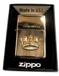 Brass Zippo Lighter- 3D RN CROWN- Officially Licenced Product